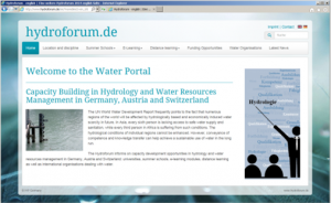 Screenshot of the hydroforum site.