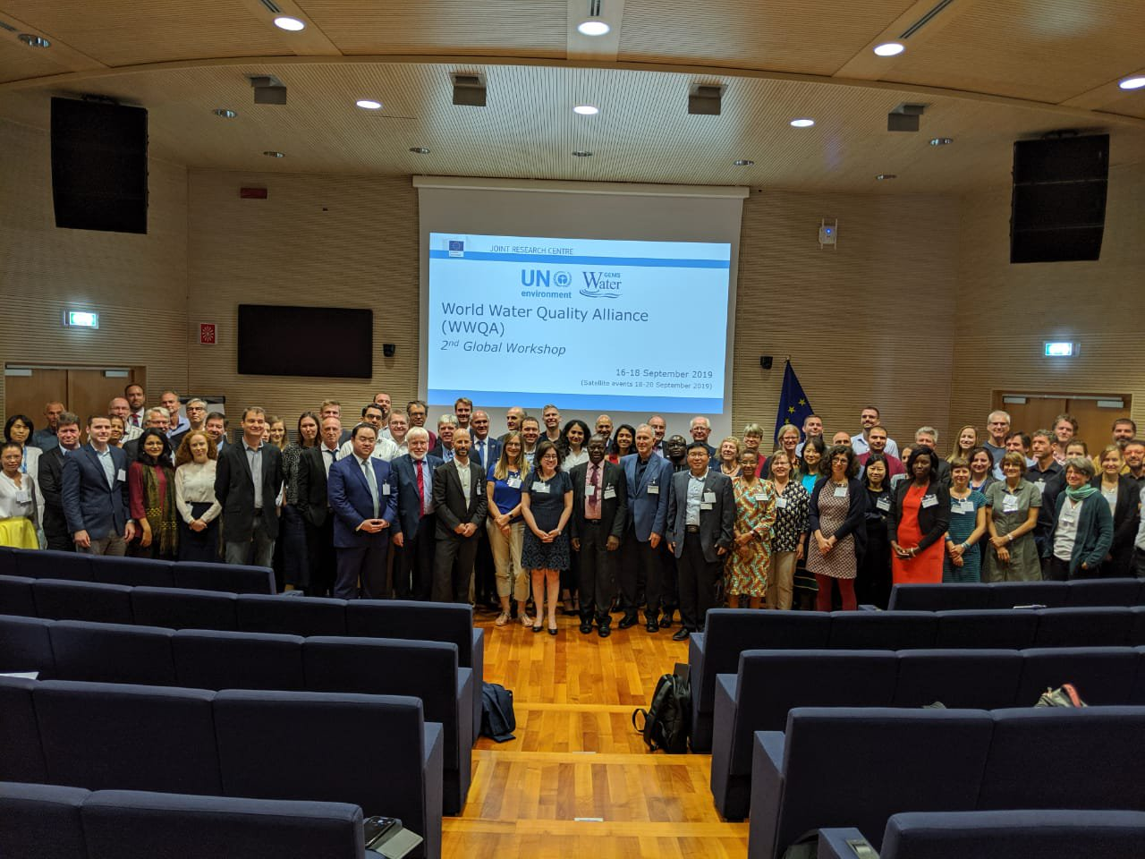 Vertreter von mehr als 50 Organisationen nahmen an dem Workshop der World Water Quality Alliance (WWQA) in Ispra teil.